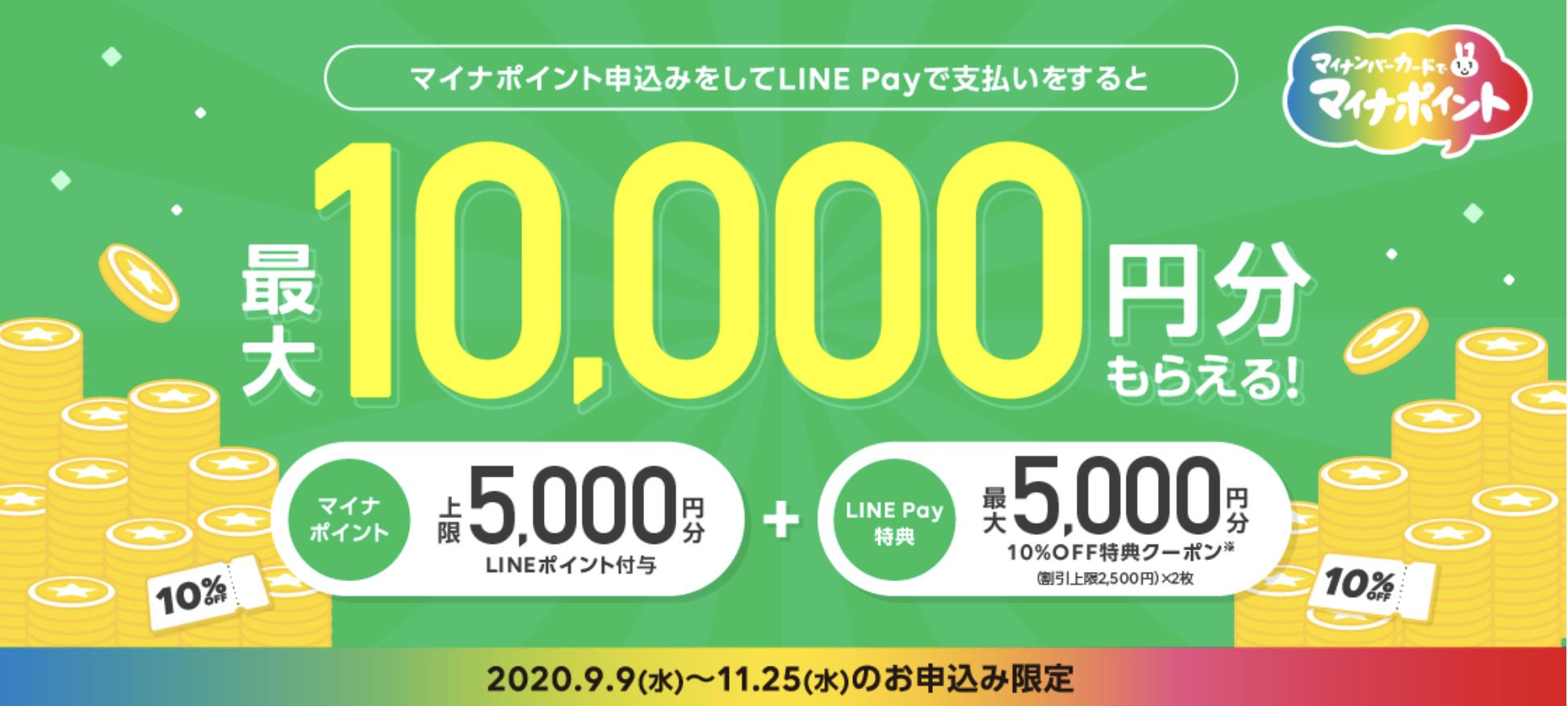 LINE Pay マイナポイント申込みの独自キャンペーン第2弾の画像